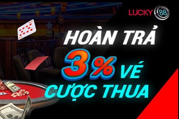lucky88 hoàn trả khi cược thua